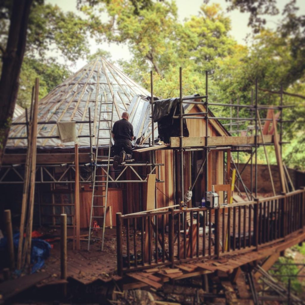 Construction of the Treehouse continues!